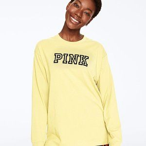 PINK Victoria's Secret Tops - VS PINK LONG SLEEVE CAMPUS TEE
